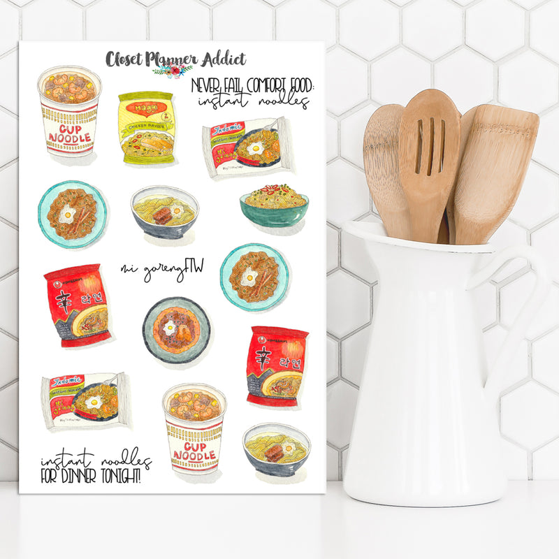 Instant Noodles Planner Stickers (S-424)