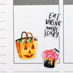 Halloween Candy Planner Stickers (S-426)