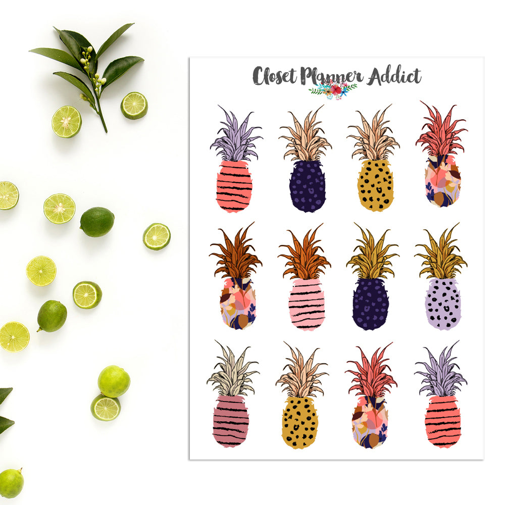 Pineapple Planner Stickers (S-429)