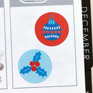 Christmas Round Label Stickers (S-438)