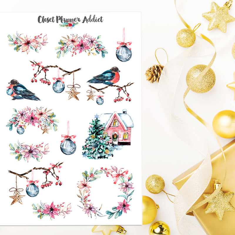 Winter Wonderland Planner Stickers (S-441)