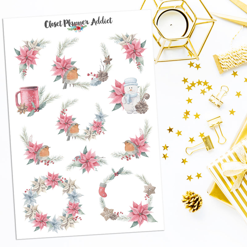 Christmas Dreams Planner Stickers (S-442)