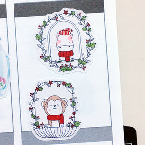 Cute Christmas Windows Planner Stickers (S-444)