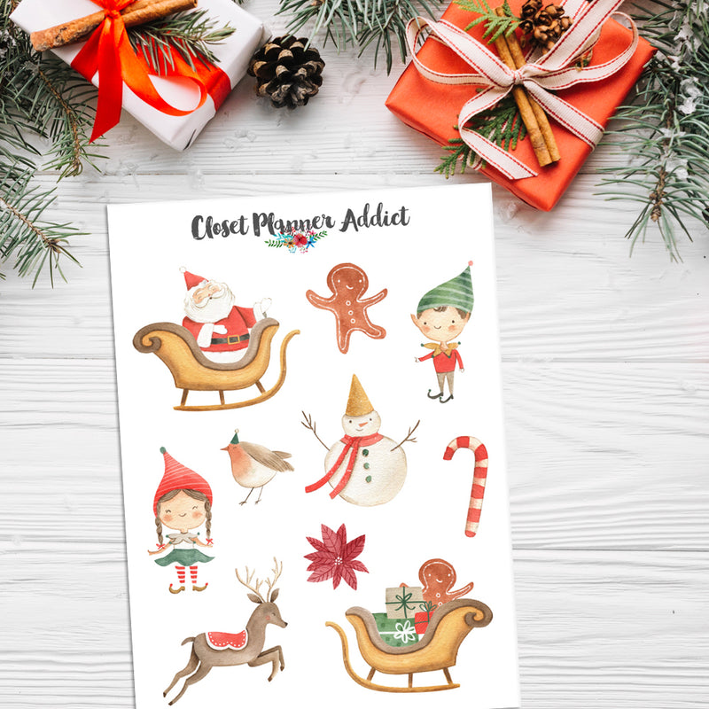 Cute Christmas Planner Stickers (S-445)