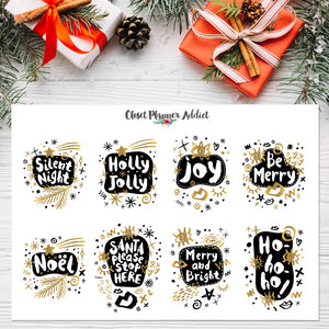 Christmas Label Planner Stickers (S-447)