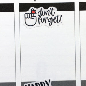 Don't Forget Planner Stickers (S-448)