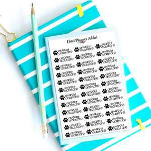 Doggy Daycare Planner Stickers (S-453)