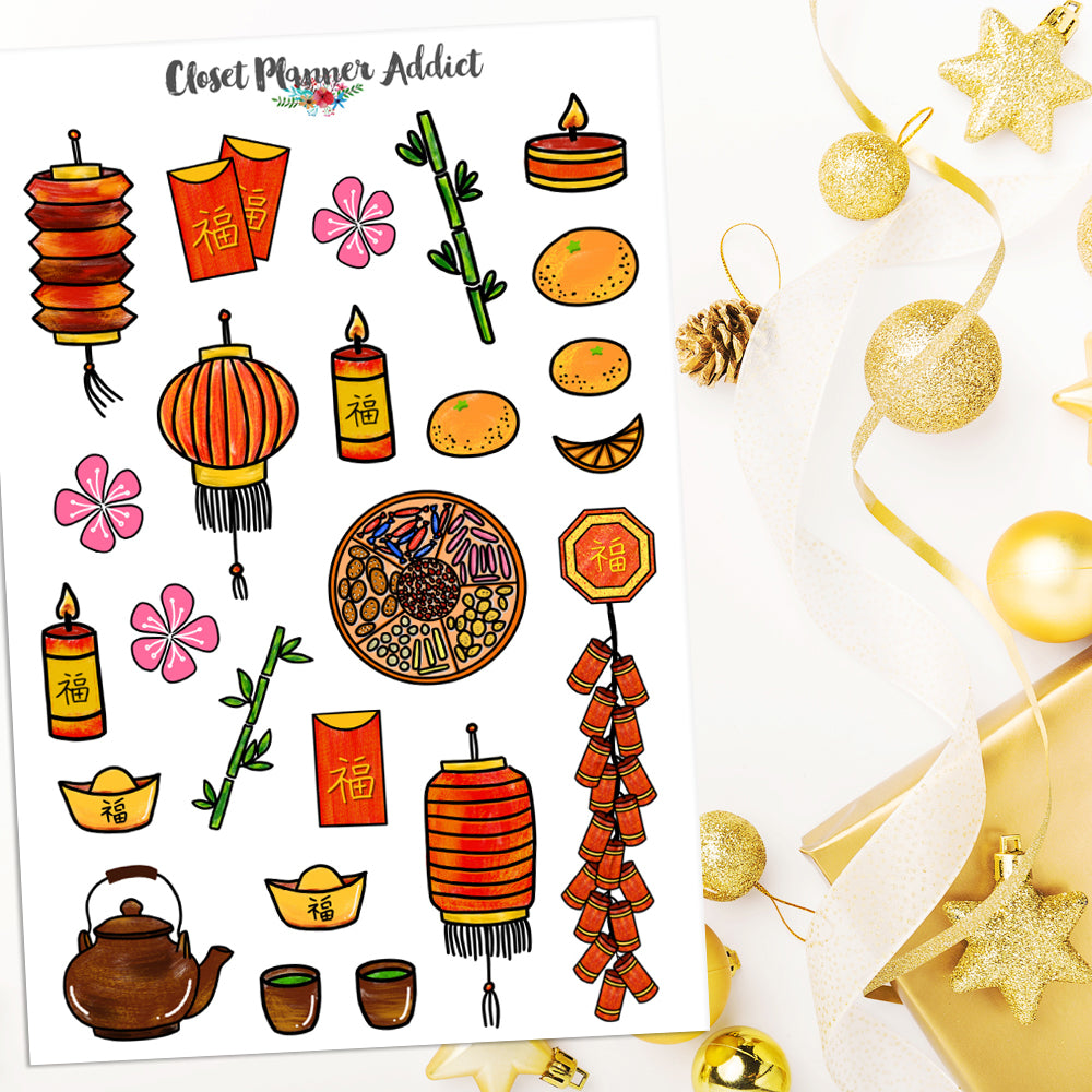 Chinese New Year Planner Stickers (S-454)