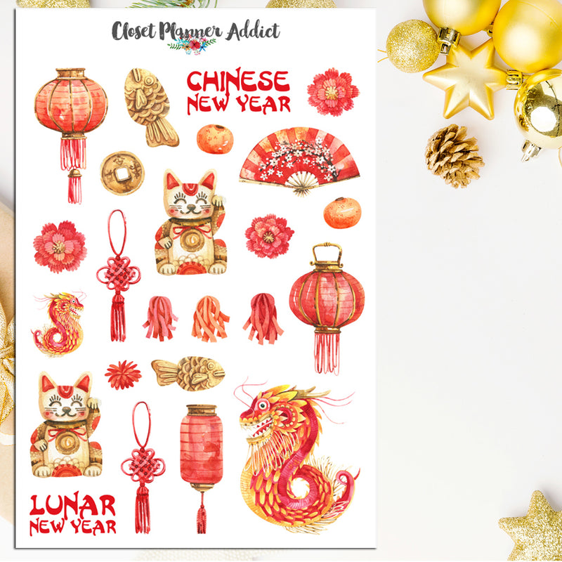 Chinese New Year Planner Stickers (S-455)