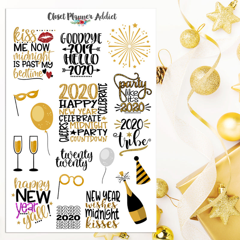 2020 New Year Planner Stickers (S-457)