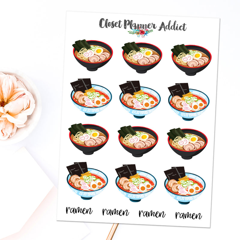 Japanese Ramen Planner Stickers (S-460)