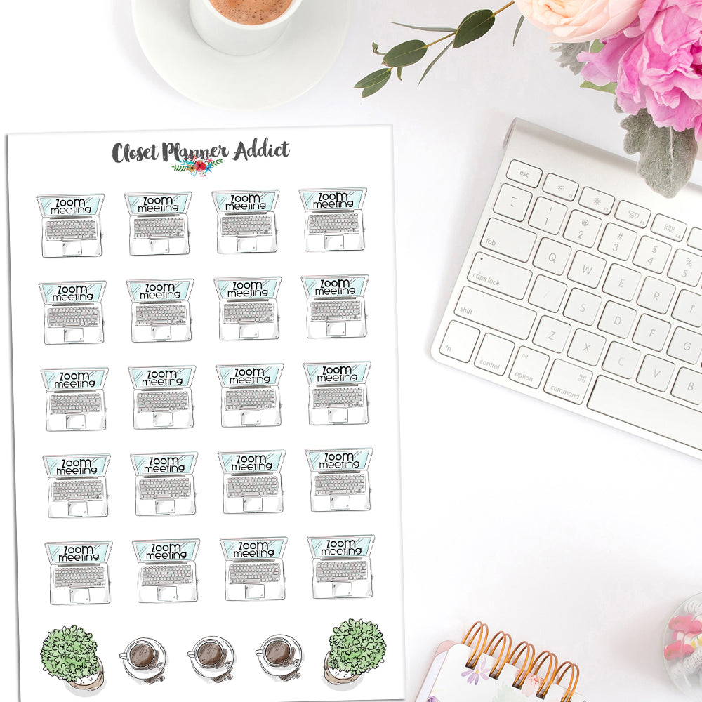Zoom Meeting Planner Stickers (S-473)