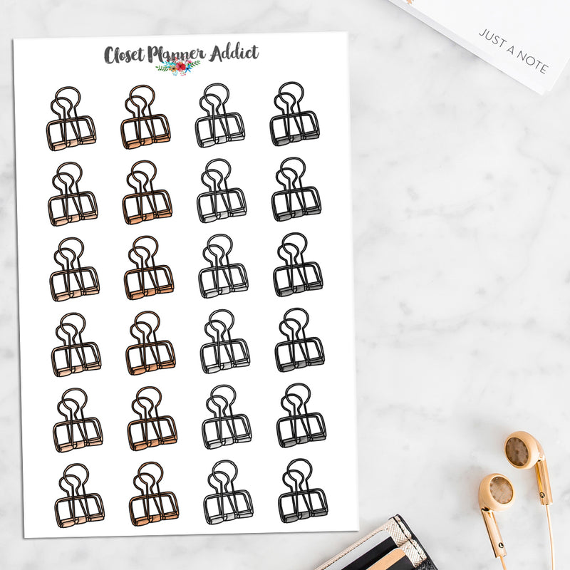 Metal Paper Clips Planner Stickers (S-475)