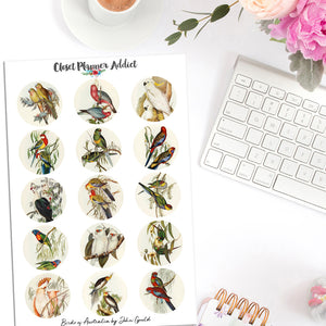 Birds of Australia by John Gould Planner Stickers (S-476)