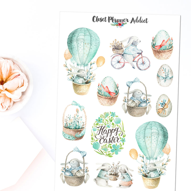 Happy Easter Planner Stickers (S-477)