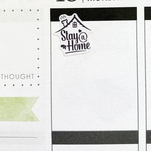 Stay At Home Planner Stickers (S-480)