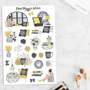 Loft Life Planner Stickers (S-482)
