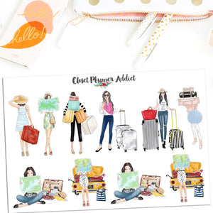 Travel Fashion Ladies Planner Stickers (S-489)