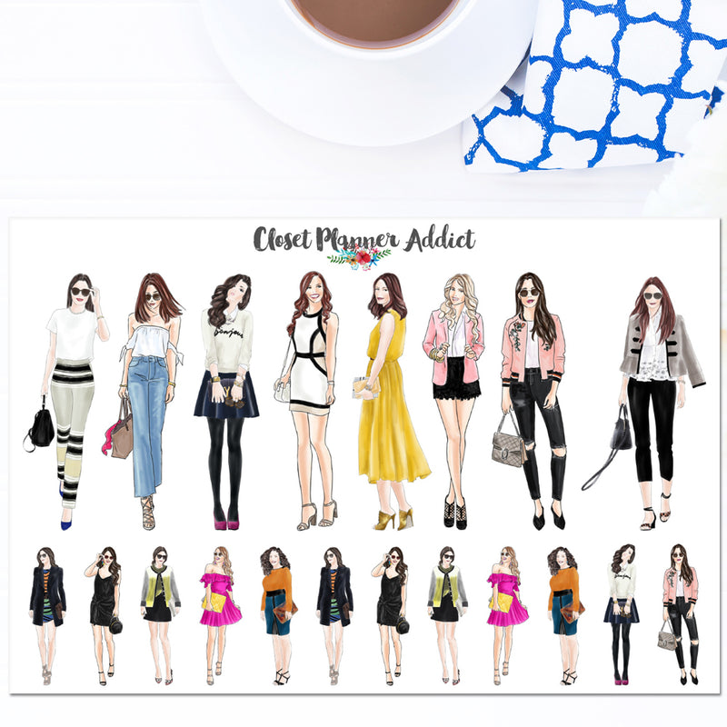 Fashion Ladies Planner Stickers (S-490)