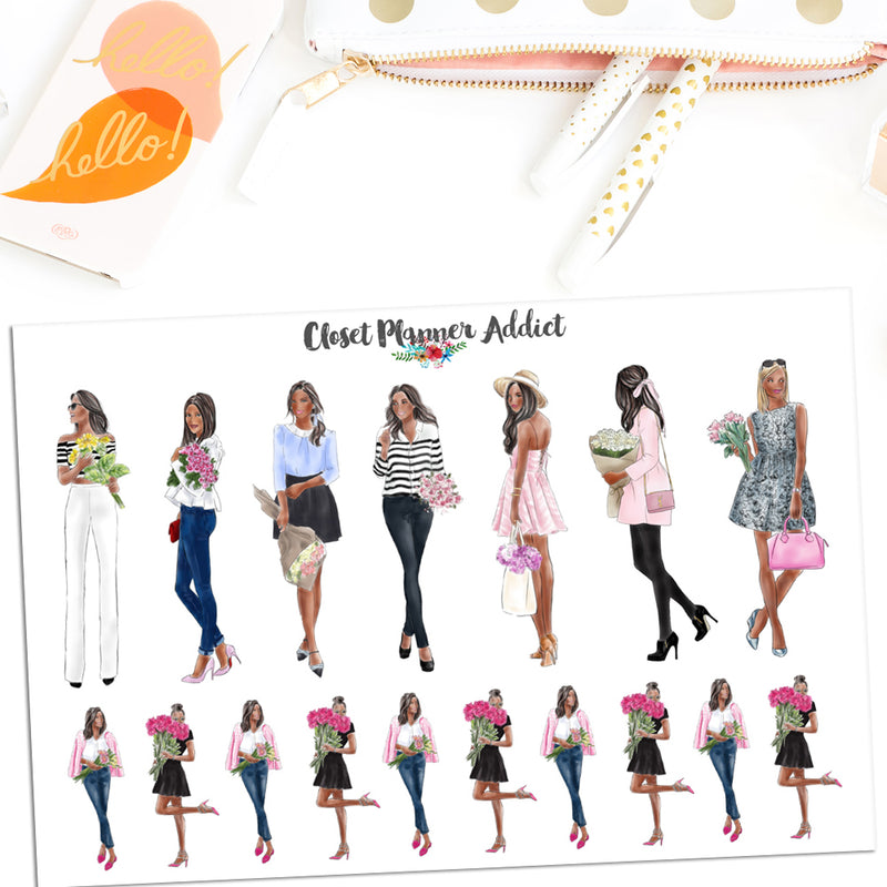 Fashion Ladies Planner Stickers (S-492)
