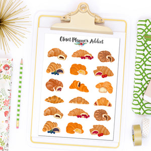 Croissant Planner Stickers (S-497)