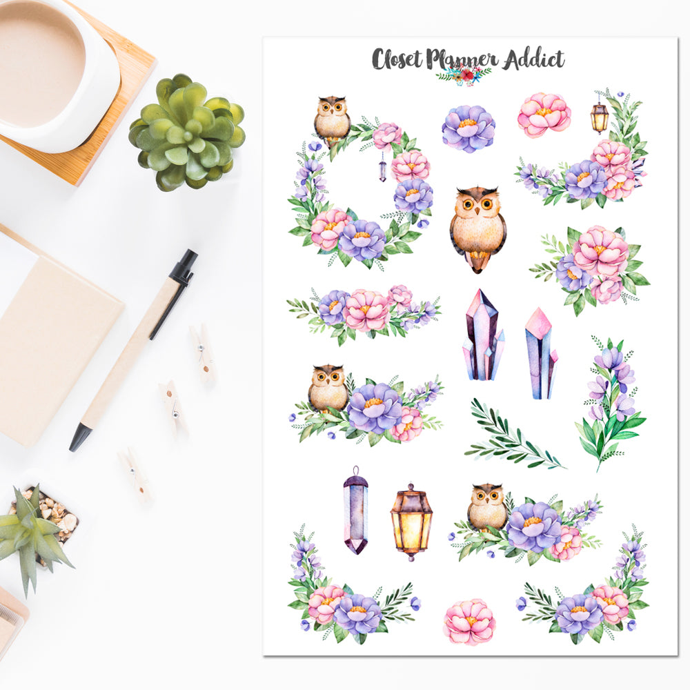 Magical Night Planner Stickers (S-501)