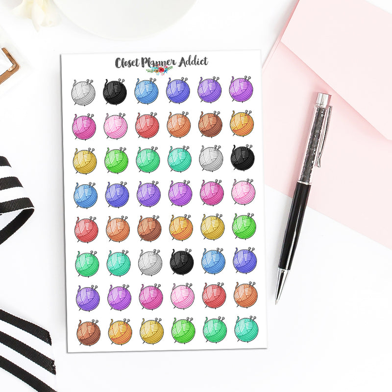Yarn Planner Stickers | Knitting Stickers | Crocheting Stickers (S-503)
