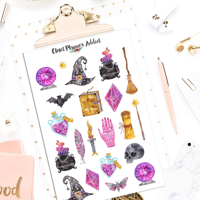 Mystic Magic Planner Stickers (S-504)