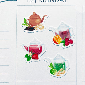Fruit Teas Planner Stickers (S-507)