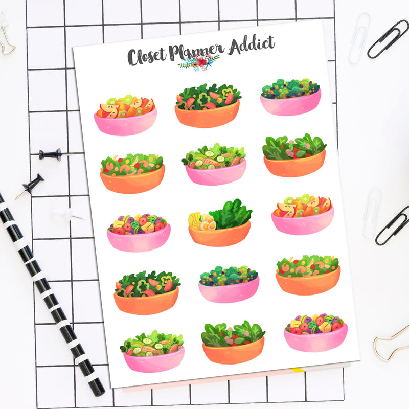 Salad Planner Stickers (S-510)