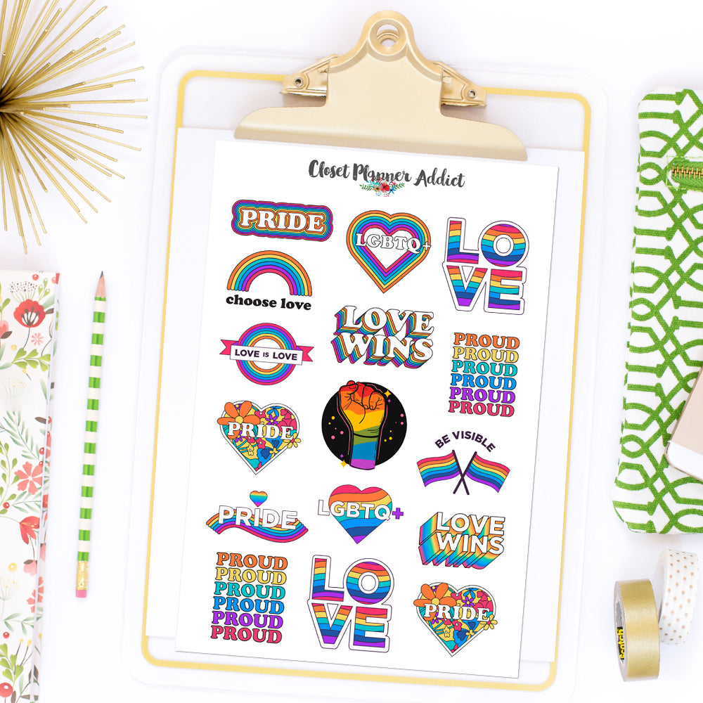 Pride Planner Stickers (S-513)