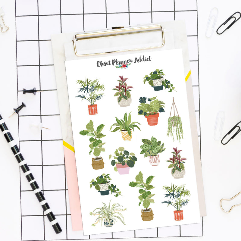 House Plant Planner Stickers (S-516)