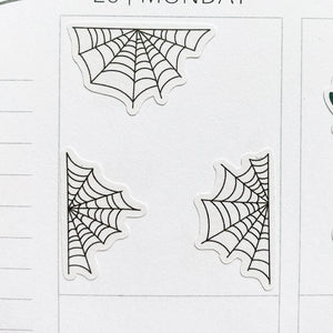 Spider Web Planner Stickers (S-518)