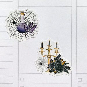 Halloween Ladies Planner Stickers (S-520)