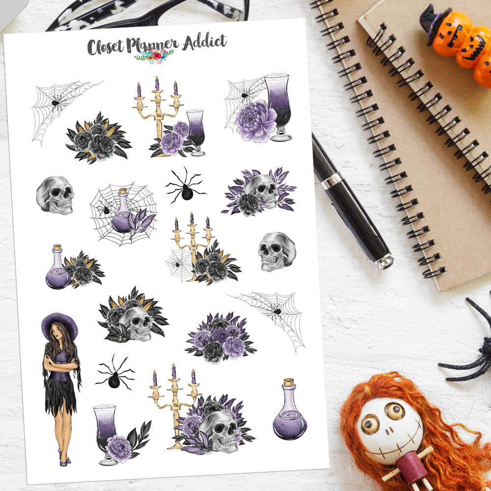 Halloween Ladies Planner Stickers Version 1 (S-520)