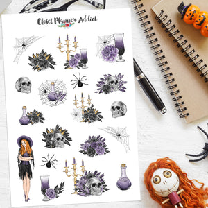 Halloween Ladies Planner Stickers Version 3 (S-520)