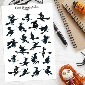 Halloween Witches Planner Stickers (S-521)