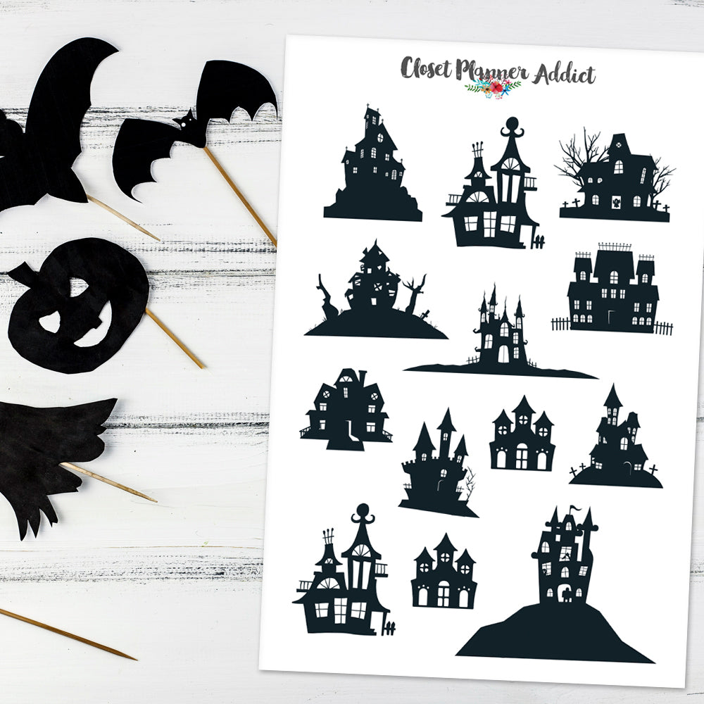 Haunted Houses Planner Stickers (S-522)