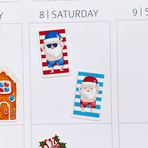 Summer Santa Planner Stickers (S-533)