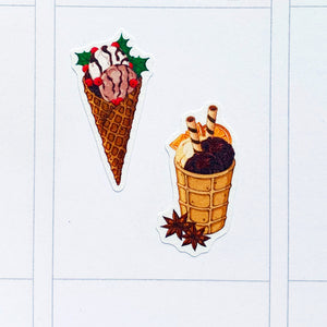 Christmas Ice Creams Planner Stickers (S-535)
