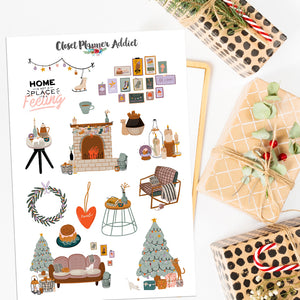 Hygge Christmas Planner Stickers (S-536)