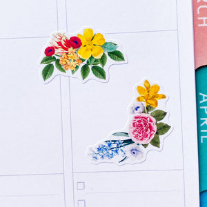 Vintage Flowers Planner Stickers by Closet Planner Addict (S-550)