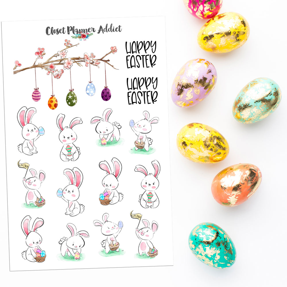 Happy Easter Planner Stickers (S-553)