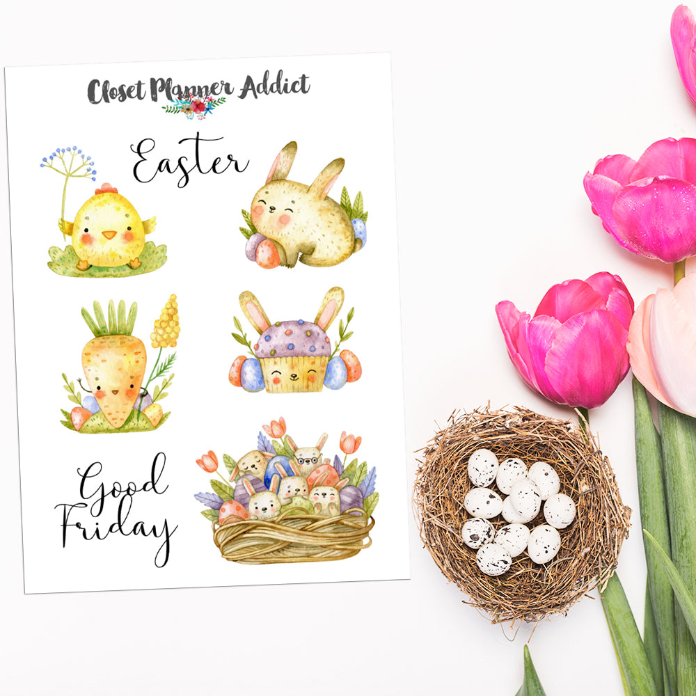 Happy Easter Planner Stickers (S-554)