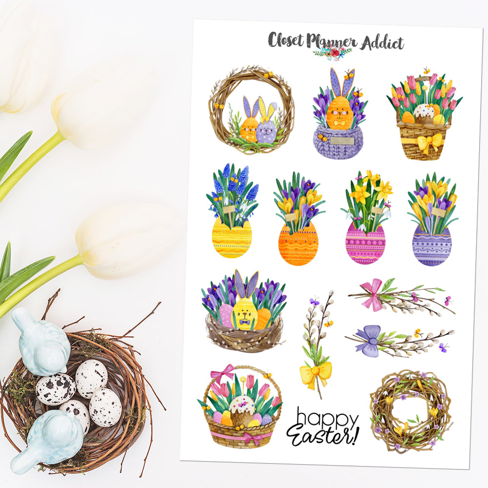 Happy Easter Planner Stickers (S-555)