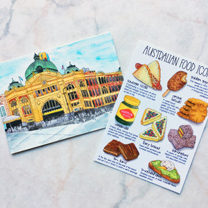 Australian Food Icons Postcard (PC-002)