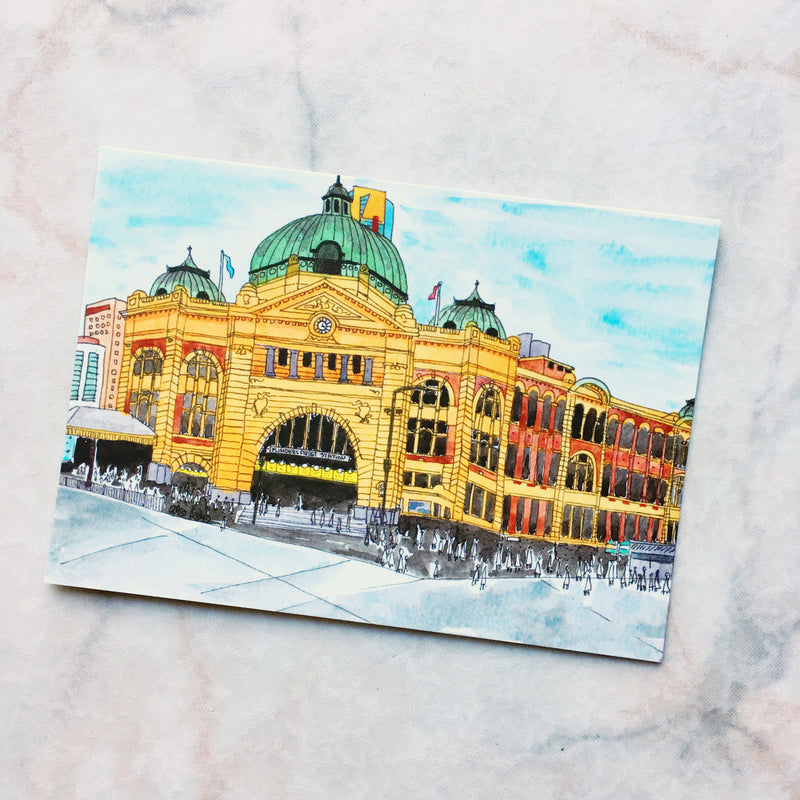 Flinders Street Station Melbourne Postcard (PC-001)