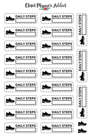 Daily Steps Counter Planner Stickers (FP-025)