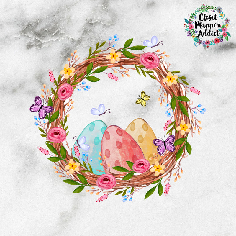 Easter Eggs Die Cut Stickers (DC-003)