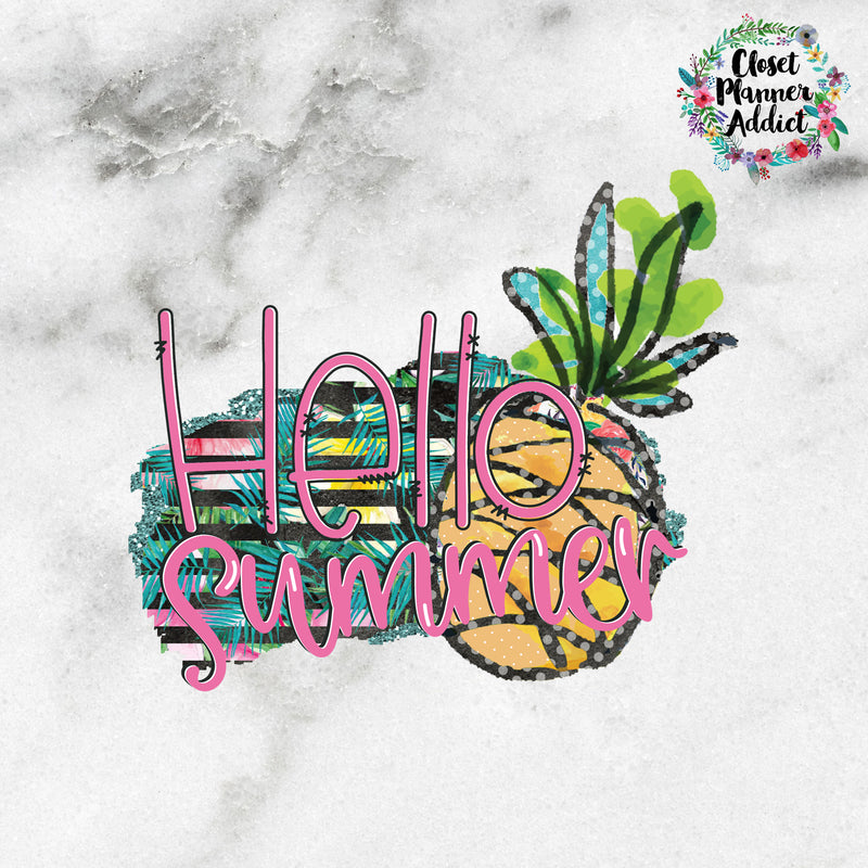 Hello Summer Die Cut Stickers (DC-006)